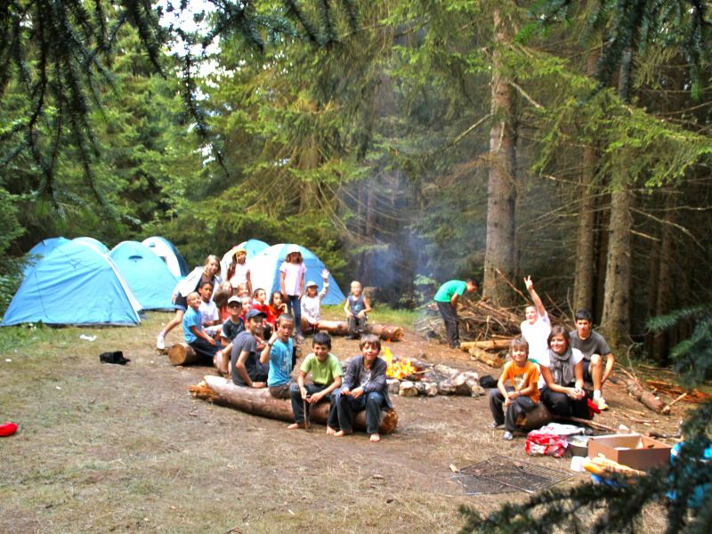 Photo - Camping et feu de camp
