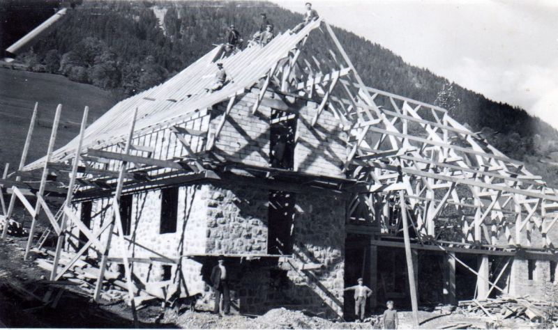Photo - Construction de la ferme/centre de vacances en 1942