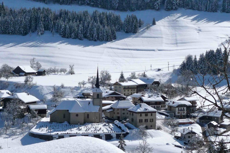 Photo - Vue du village en hiver